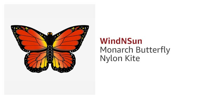WindNSun Monarch Butterfly Nylon Kite