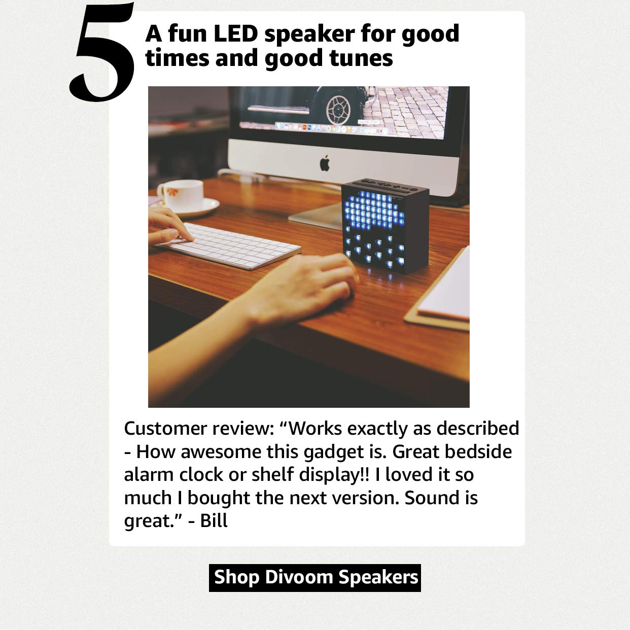 A fun LED speaker for good times and good tunes
