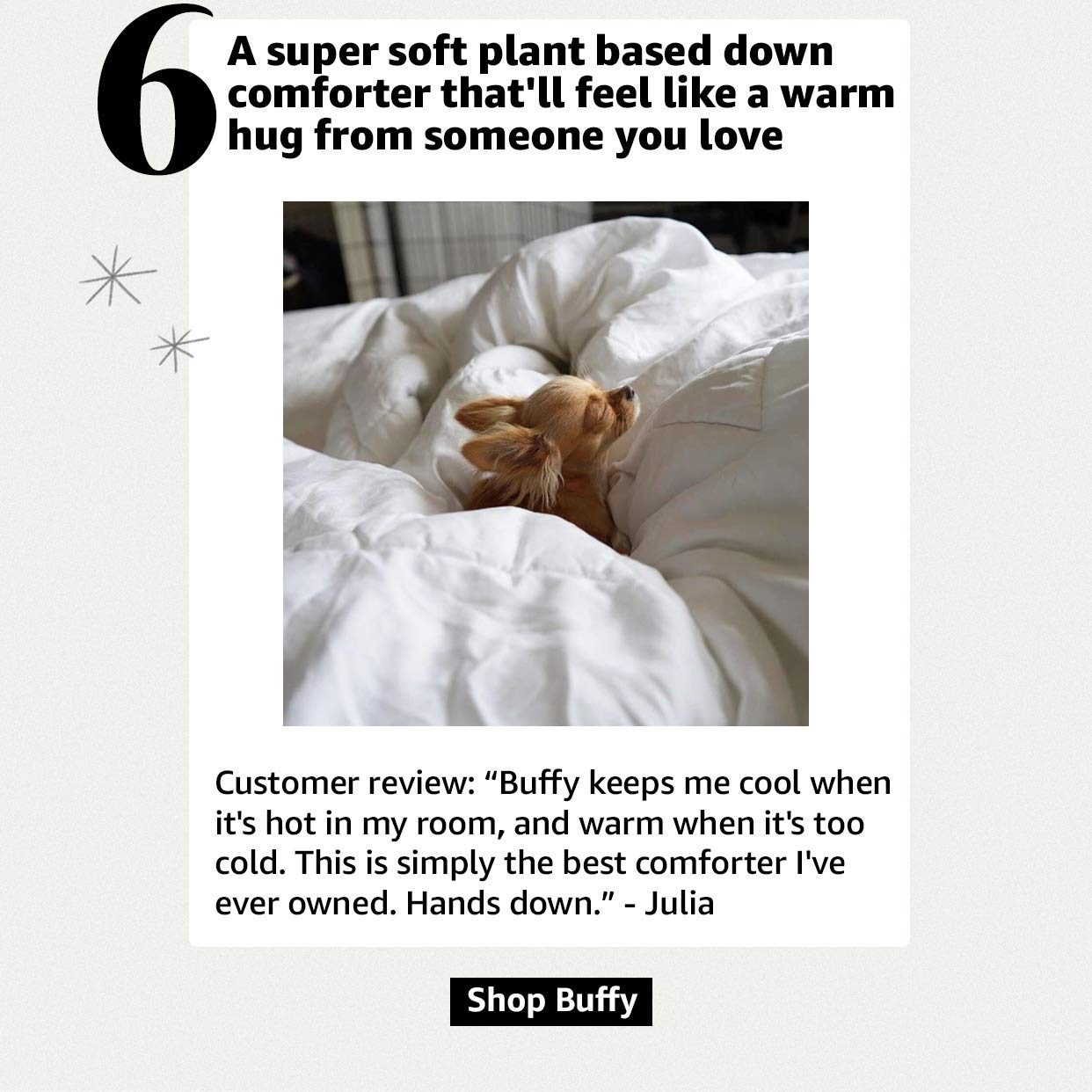 A plant base down comforter to help you sleep