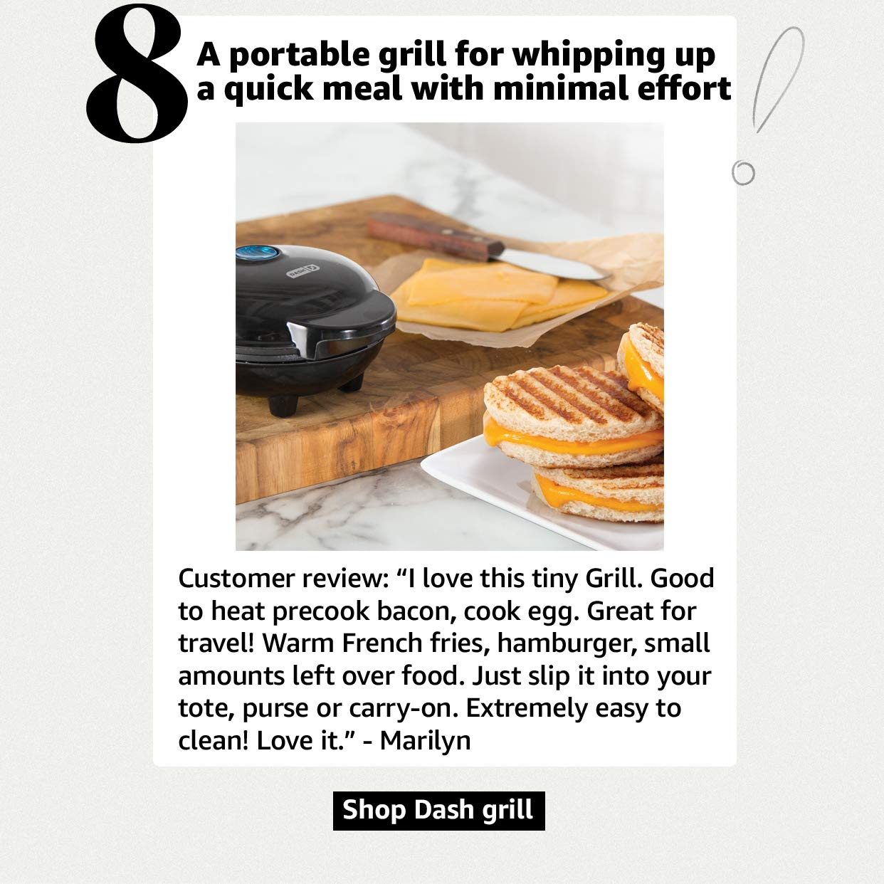 A portable grill for whipping up a quick meal
