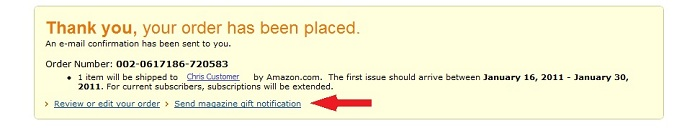 Amazon Com Give A Magazine Gift