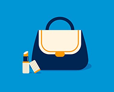 Purse and makeup