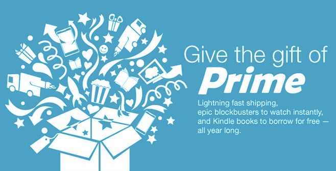 Give the Gift of Amazon Prime.