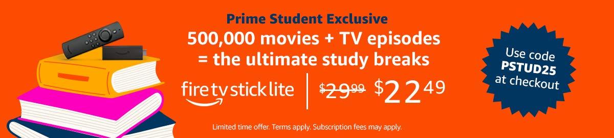 fire tv stick lite for $22.49