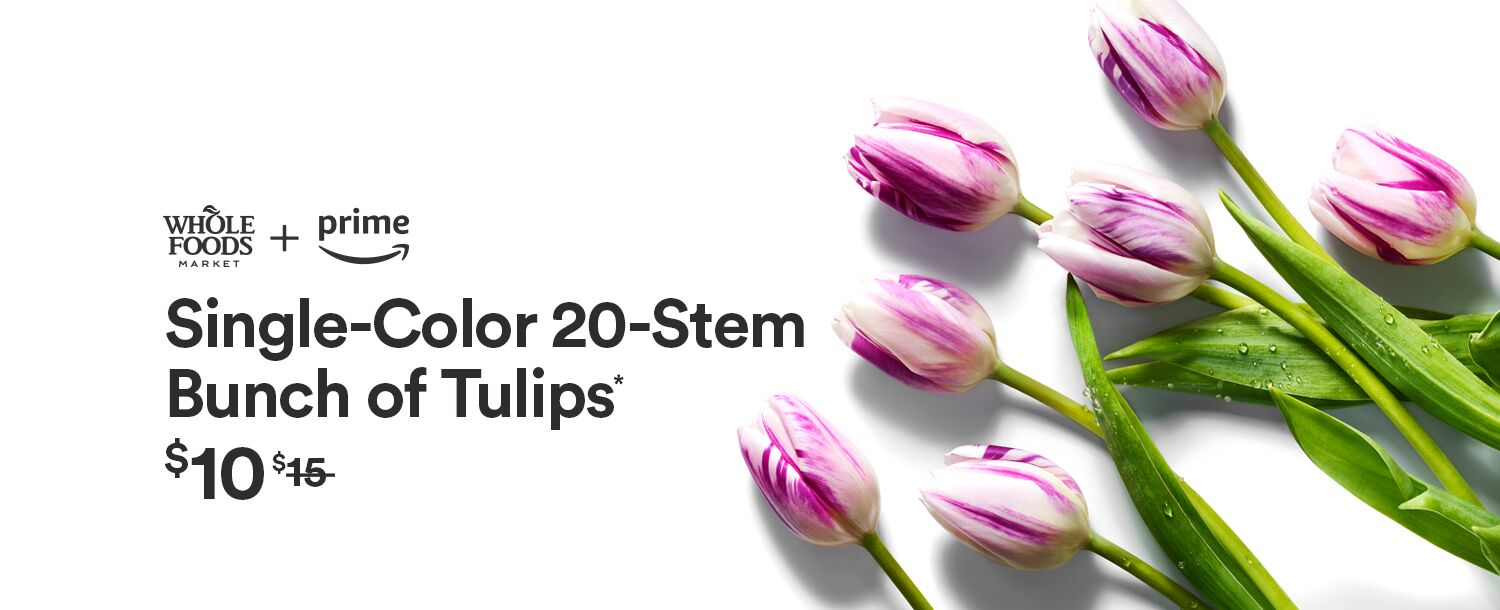 Prime members get 20 single-color tulips for $10