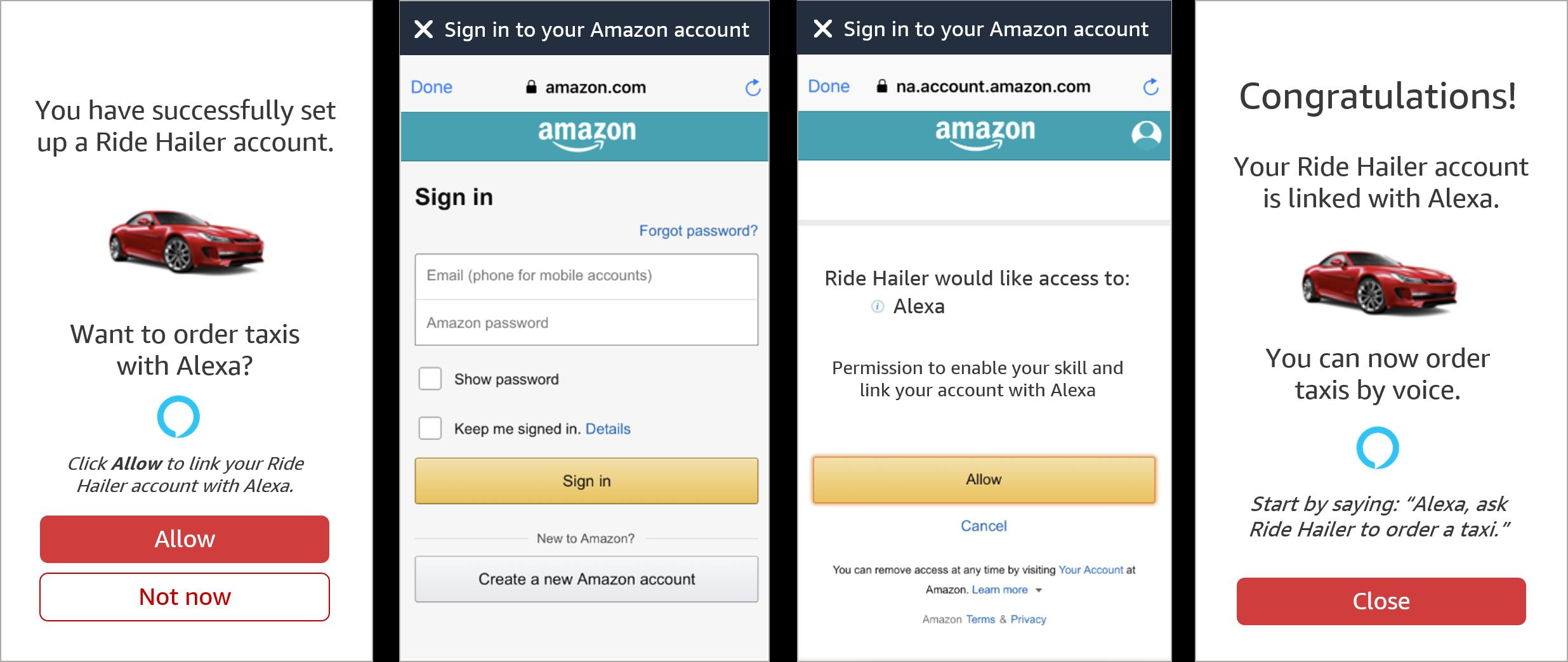 Login with Amazonを使用したAlexaアプリ間アカウントリンク