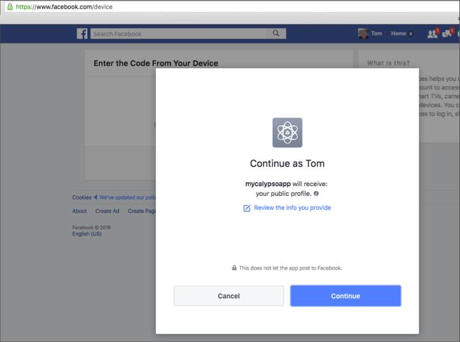 facebook認証コンポーネント fire app builder