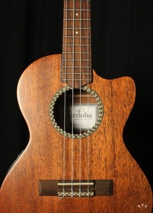 Front of the Cordoba 20TM-CE ukelele.