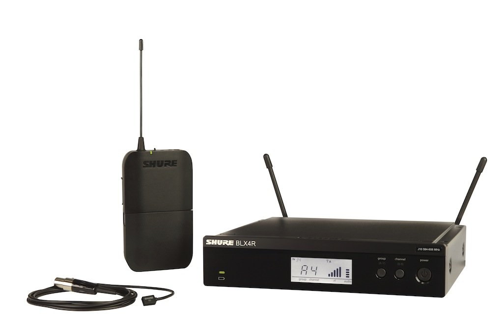 shure blx14r w93 wireless presenter rack mount system with wl93 lavalier microphone. Black Bedroom Furniture Sets. Home Design Ideas