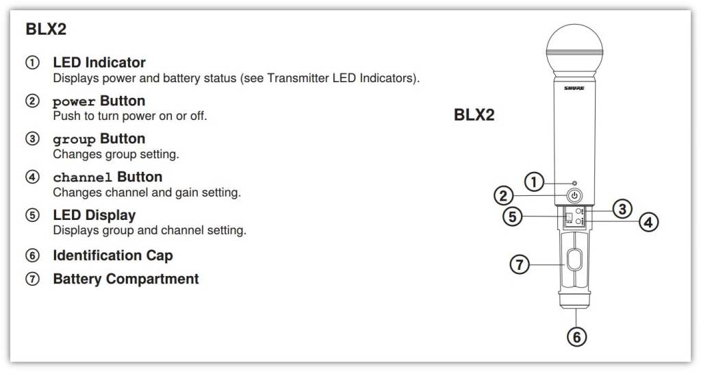 amazon.com: shure blx2/pg58 handheld wireless microphone ... shure sm57 wiring diagram #7