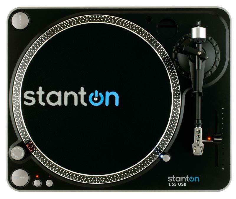 Amazon.com: Stanton t55usb USB belt-drive DJ Tocadiscos con ...