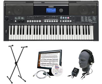 Amazon Com Yamaha Psr E433 Premium Keyboard Package With