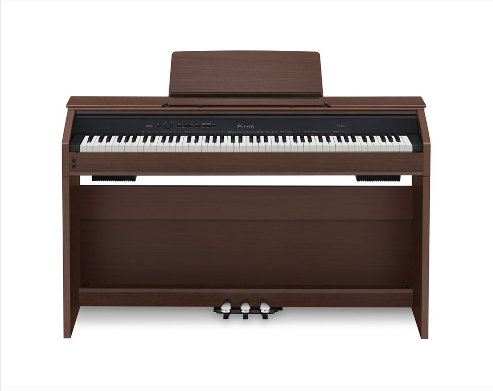 old model casio px850 privia 88 key digital piano brown musical instruments. Black Bedroom Furniture Sets. Home Design Ideas