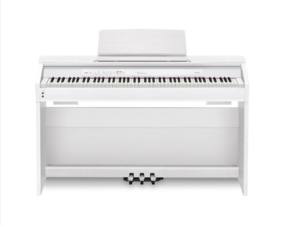 old model casio px850 privia 88 key digital piano white musical instruments. Black Bedroom Furniture Sets. Home Design Ideas