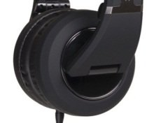 Detail view of the earphones.