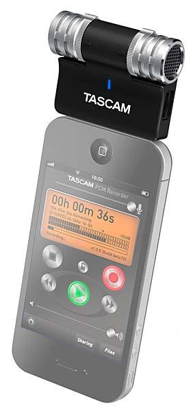 TASCAM iM2 in use