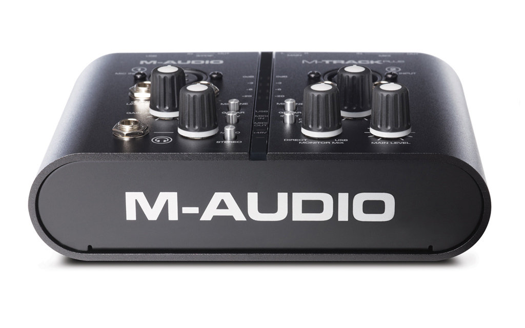 m audio m track plus two channel portable usb audio and midi interface with digital. Black Bedroom Furniture Sets. Home Design Ideas
