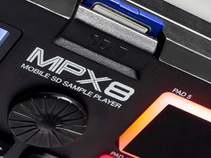 Akai Professional MPX8 SD Card Slot