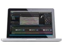 myDMX 2.0 software running on a laptop.
