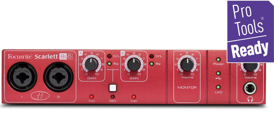 Focusrite Scarlett 8i6 USB 2.0 Audio Descargar Controlador