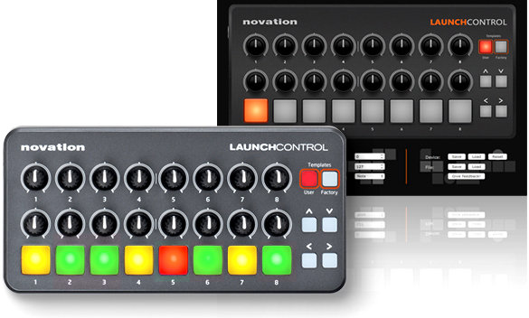 novation launch control portable usb midi contoller with 16 assignable knobs and. Black Bedroom Furniture Sets. Home Design Ideas