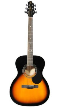 Profile view of the G Series GOM100S acoustic guitar.