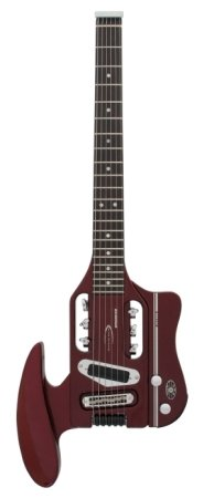 Profile view of the Speedster Hot Rod travel guitar.