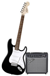 Squier by Fender Stop Dreaming, Start Playing Set: Affinity Special w/ Fender 15G Amplifier, Black