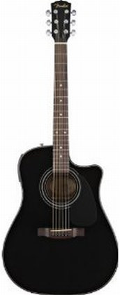 fender cd 110ce dreadnought cutaway acoustic electric guitar black musical. Black Bedroom Furniture Sets. Home Design Ideas