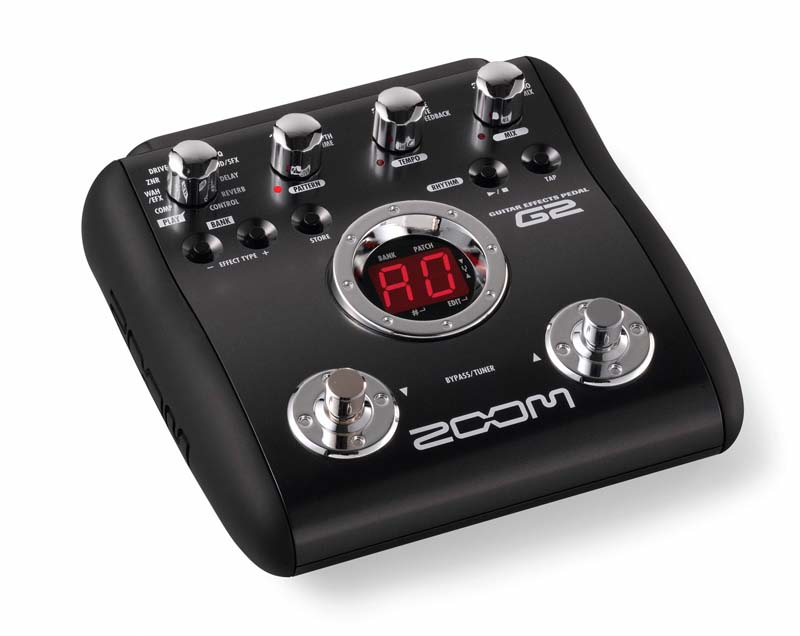 zoom g2 guitar effects pedal with drum machine musical instruments. Black Bedroom Furniture Sets. Home Design Ideas