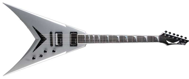 dean v dave mustaine guitar signature metallic silver with case musical instruments. Black Bedroom Furniture Sets. Home Design Ideas