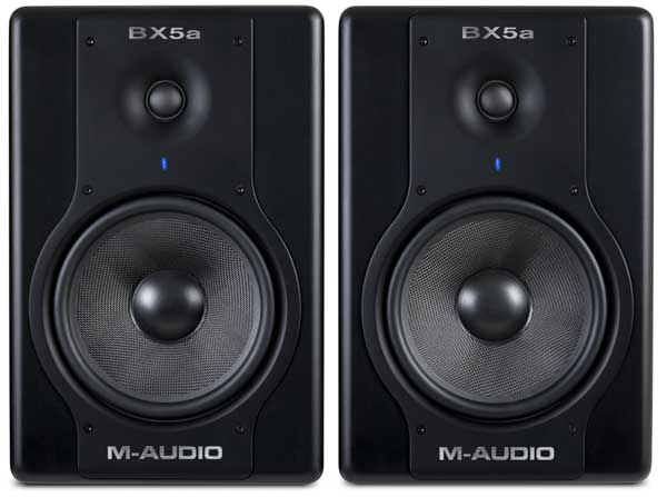 m audio bx5a deluxe 70 watt bi lified studio reference monitors musical instruments