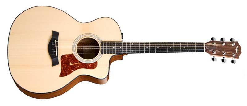 taylor guitars 114ce grand auditorium solid sitka spruce top sapele back sides. Black Bedroom Furniture Sets. Home Design Ideas