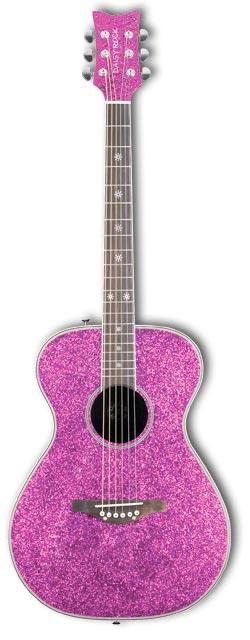 Amazon.com: Daisy Rock Pixie Acoustic Pink Sparkle Left