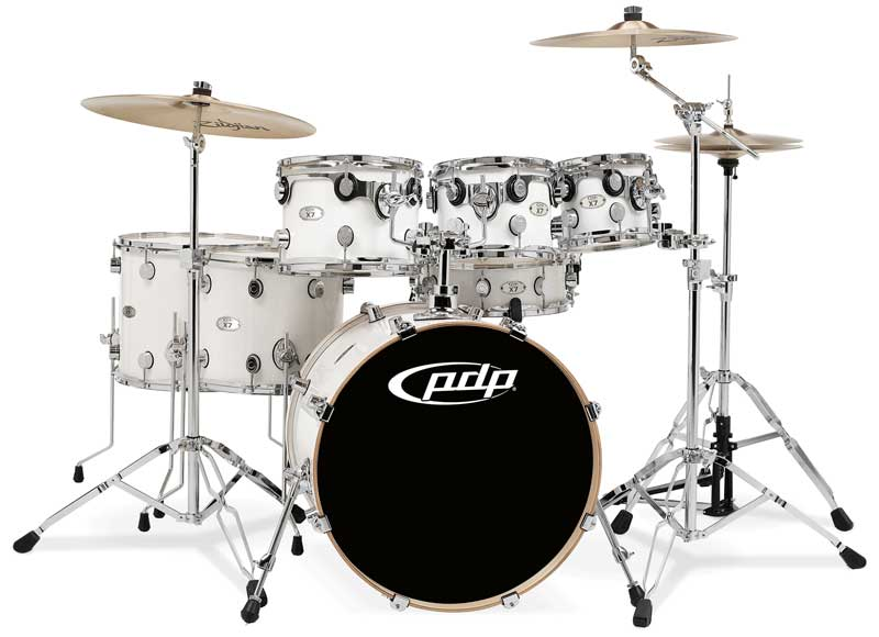 pacific drums by dw x7 shell pack maple pearl white cymbals and hardware not. Black Bedroom Furniture Sets. Home Design Ideas