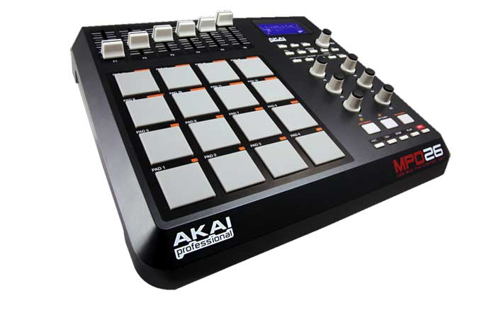 akai professional mpd26 usb midi pad controller musical instruments. Black Bedroom Furniture Sets. Home Design Ideas