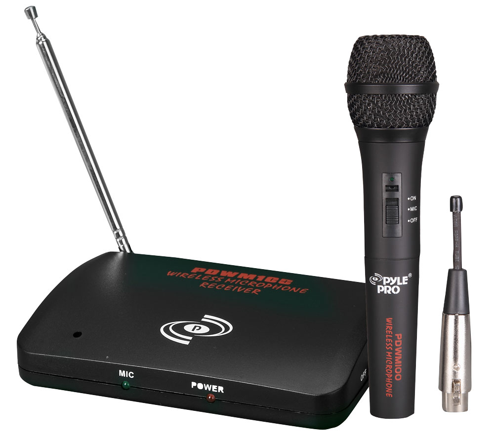 PYLE-PRO PDWM100 Dual Function Wireless/Wired Microphone System ...