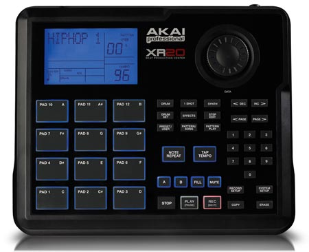 akai professional xr20 beat production station drum machine the hip hop radio shop. Black Bedroom Furniture Sets. Home Design Ideas