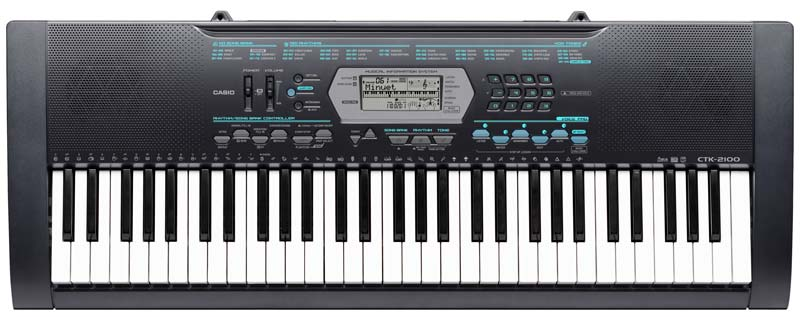casio ctk 2100 61 key personal keyboard with new voice pad feature musical instruments. Black Bedroom Furniture Sets. Home Design Ideas