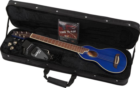 washburn ro10tb rover steel string travel acoustic guitar transparent blue. Black Bedroom Furniture Sets. Home Design Ideas