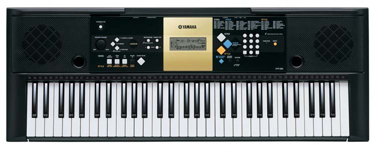 Yamaha ypt 220 61 key personal keyboard with ac adapter for Yamaha professional keyboard price