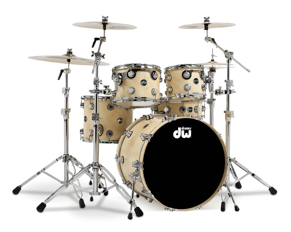 DW Drums Eco-X Kit with 22-inch Kick Drum, Desert Sand Finish (Cymbals