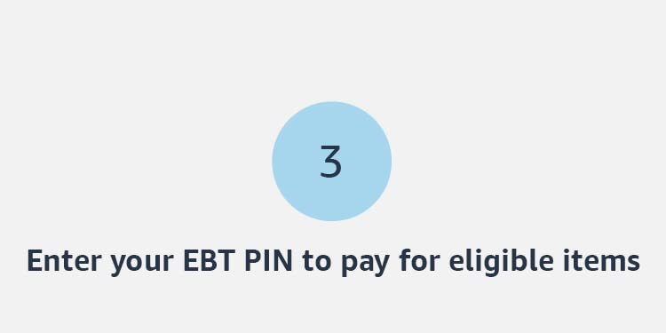 Enter your EBT PIN to pay for eligible items