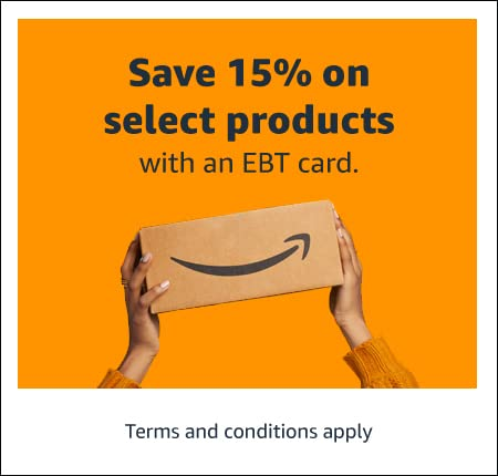 Save 15% on select products with an EBT card