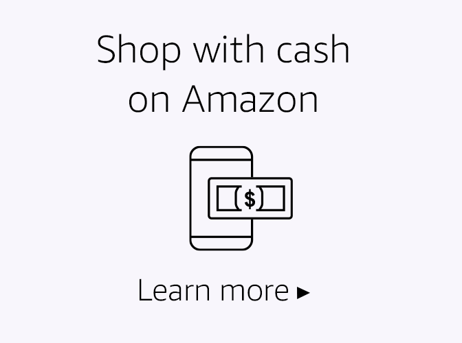 Shop with cash on Amazon