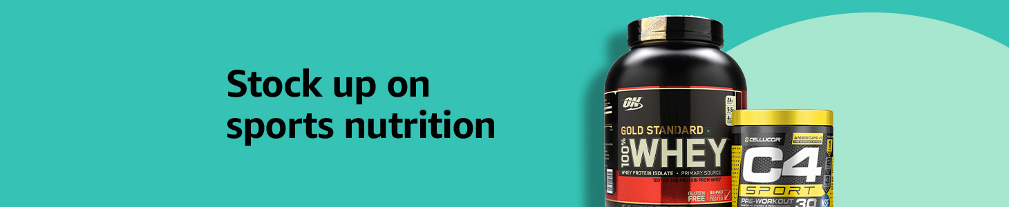 Stock up on sports nutrition