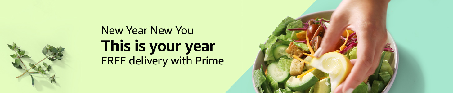New Year New You This is your year FREE delivery with Prime