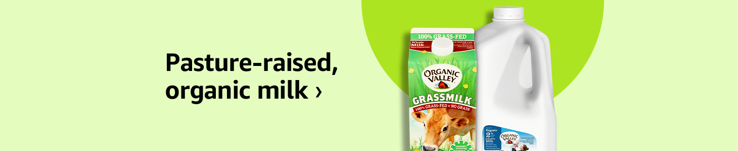 Pasture-raised, organic milk