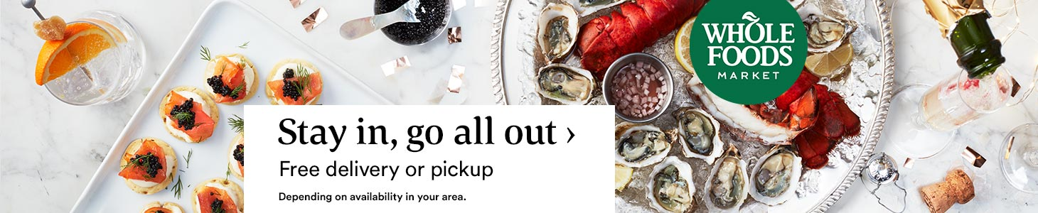 Stay in, go all out ? Free delivery or pickup. Depending on availability in your area.