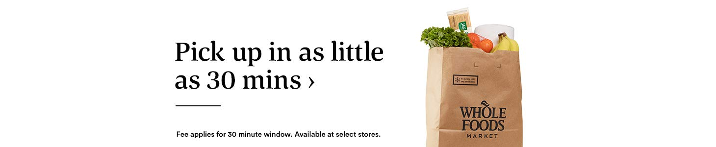 Pick up in as little as 30 mins › Fee applies for 30 minute window. Available at select stores.